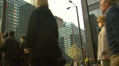 Low Angle Sidewalk Motion JPEG B POND5 INTERLACE! - stock footage