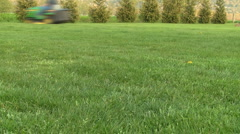 Lawn Cutting with Tractor Time Lapse - stock footage
