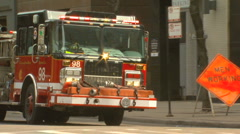ChicagoFireTruck Motion JPEG B POND5 INTERLACE! - stock footage