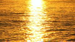 Golden Sunset Over Gentle Ocean Stock Footage