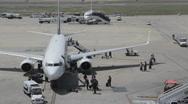 Passengers Debarking an Airplane 1080p Stock Footage