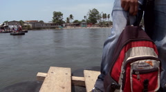 Migrants from Guatemala and Mexico illegally cross the border Stock Footage
