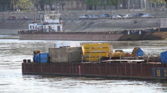 BargeMasters on River 06 Stock Footage