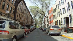 Driving by Brooklyn Row Apartments - stock footage