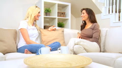 Female Friends in Home Setting Stock Footage