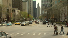 Wide Time Lapse Michigan Ave Motion JPEG B POND5 INTERLACE! Stock Footage