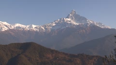 Nepal: Pull out of the Annapurna mountain Range - stock footage