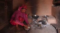 Nepal: Mixing the Meal - stock footage