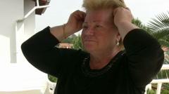 Woman  has Migraine Stock Footage