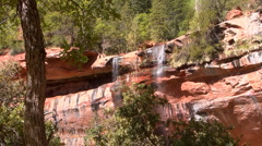 Waterfalls from Emerald Pools Stock Footage