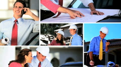 Montage of Male Architect Working with Client Stock Footage