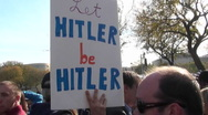 A sign at a political rally says Let Hitler Be Hitler. Stock Footage