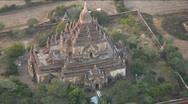 Stock Video Footage of View from hot air balloon on pagodas