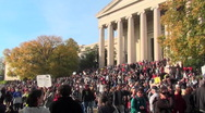 Huge crowds at the Jon Stewart Stephen Colbert rally in Washington D.C. Stock Footage