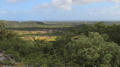 Bonaire view from hill Stock Footage