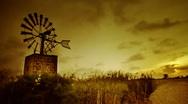 Windmill old school timelapse  Stock Footage