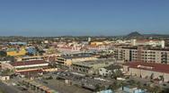 Aruba Oranjestand zooms in Stock Footage