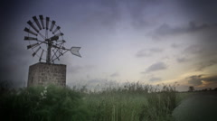 Windmill old school timelapse  - stock footage