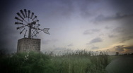 Windmill old school timelapse  Stock Footage