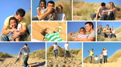 Lifestyle Montage of Families Together by the Coast - stock footage