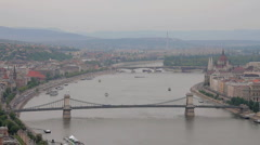 Budapest View 01 Stock Footage