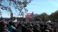 Stock Video Footage of Crowds of protestors on the mall in Washington D.C.