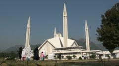 Shah Faisal mosque Islamabad - stock footage