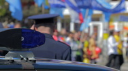 Policeman  in the crowd Stock Footage