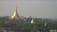 Stock Video Footage of Shwedagon pagoda, Yangon, Burma