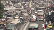 Stock Video Footage of Traffic, busy, city, Karachi, Pakistan, transportation, rush hour, jam