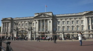 Stock Video Footage of Buckingham Palace London England UK