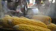 Stock Video Footage of Corn seller