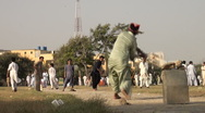 Cricket field in Karachi, Pakistan Stock Footage