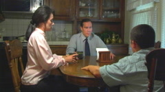A Tense Family Dinner- Angle 2 - stock footage