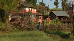 Nepal: Farm house Stock Footage