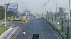 Empty highway in Islamabad - stock footage
