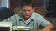 Stock Video Footage of A Tense Family Dinner Angle 3
