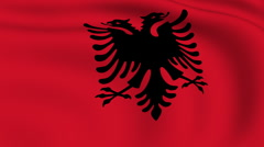 Flying flag of albania | looped | Stock Footage