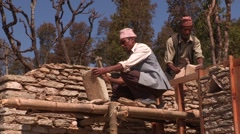 Nepal: Shaping the Stones Stock Footage