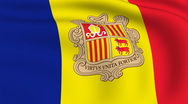 Flying flag of andorra | looped | Stock Footage