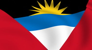 Flying flag of antigua and barbuda | looped | Stock Footage