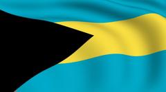Flying flag of bahamas | looped | Stock Footage