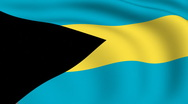 Stock Video Footage of flying flag of bahamas | looped |