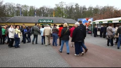 Entrance to Keukenhof Dutch Tulip Gardens Stock Footage