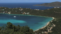 St. Thomas Magens Bay and beach Stock Footage