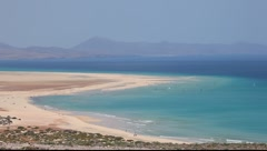 Coast on Canary Island Fuerteventura Stock Footage