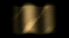 Dazzling sunlight on golden metal plate,motion wave light.abstract,backgrounds, Stock Footage