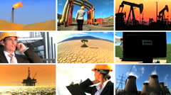 Montage of Clean Energy Production & Modern Technology Stock Footage