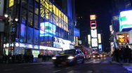 Stock Video Footage of Times Square, NY (advertisements and traffic) -V.2