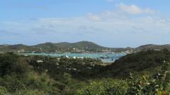 Antigua Falmouth Bay Stock Footage